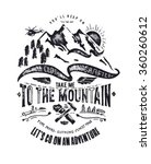 mountain illustration with type ... | Shutterstock .eps vector #360260612