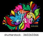 vector happy holi template with ... | Shutterstock .eps vector #360263366