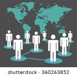 social media network connection ... | Shutterstock .eps vector #360263852