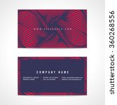abstract business card template | Shutterstock .eps vector #360268556