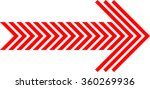 linear red striped arrow for... | Shutterstock .eps vector #360269936
