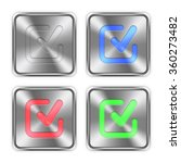 color checkmark icons engraved...
