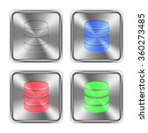 color database icons engraved...