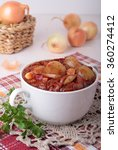 small onions stewed in a spicy... | Shutterstock . vector #360274412