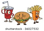 cute cartoon fast food...