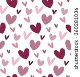 seamless hearts pattern.... | Shutterstock .eps vector #360281036