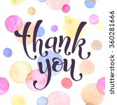 thank you lettering with... | Shutterstock .eps vector #360281666