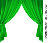 green theater curtain on a... | Shutterstock .eps vector #360289352