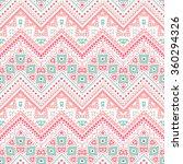 tribal ethnic zig zag pattern.... | Shutterstock . vector #360294326