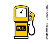 yellow gasoline pump icon. | Shutterstock .eps vector #360299582