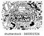 hand drawn vector illustration... | Shutterstock .eps vector #360301526