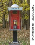 outdoor phone booth at... | Shutterstock . vector #360302252