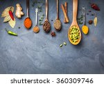 various spices powder turmeric  ... | Shutterstock . vector #360309746