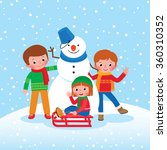 cartoon illustration of winter... | Shutterstock . vector #360310352