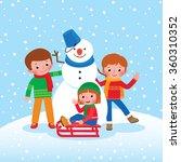 cartoon illustration of winter... | Shutterstock . vector #360310352