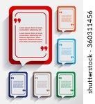 set of empty six speech... | Shutterstock .eps vector #360311456