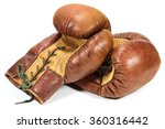 Vintage Boxing Gloves Isolated...
