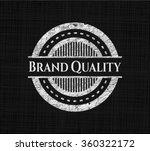 brand quality chalk emblem