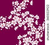 seamless pattern  with sakura.... | Shutterstock .eps vector #360322922
