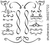 hand drawn vector flourishes...   Shutterstock .eps vector #360327722