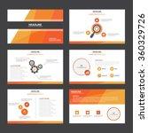 Red Orange presentation template Infographic elements flat design set for brochure flyer leaflet marketing advertising   Shutterstock vector #360329726