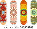 mandala style skateboard design ... | Shutterstock .eps vector #360333782