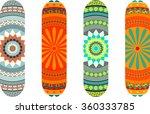 mandala style skateboard design ... | Shutterstock .eps vector #360333785