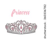 crown vector. painted diadem. ...   Shutterstock .eps vector #360336782