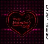 happy valentines day pink... | Shutterstock .eps vector #360341195