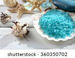 marine style spa composition on ... | Shutterstock . vector #360350702