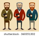 set of three male teachers  | Shutterstock .eps vector #360351302