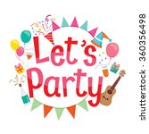 party letter  icons and... | Shutterstock .eps vector #360356498