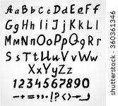 grunge handwritten black...   Shutterstock .eps vector #360361346