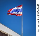 thailand flag. in the windy and ... | Shutterstock . vector #360362642