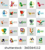 collection of colorful abstract ... | Shutterstock .eps vector #360364112