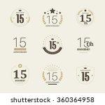 fifteen years anniversary... | Shutterstock .eps vector #360364958