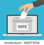 voting online concept. hand...