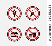 a sign can not eat and drink ... | Shutterstock .eps vector #360383156