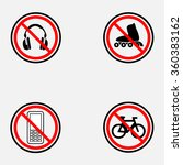 set of prohibiting signs  ... | Shutterstock .eps vector #360383162