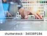 interior designer hand working... | Shutterstock . vector #360389186
