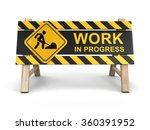 work in progress sign. image... | Shutterstock . vector #360391952