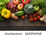 fresh vegetables and fruits... | Shutterstock . vector #360396968