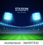 illustartion of stadium with... | Shutterstock .eps vector #360397532