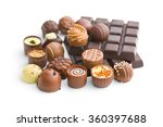 Various Chocolate Pralines And...