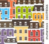winter city seamless pattern.... | Shutterstock . vector #360398066