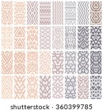 tribal lace patterns in pastel... | Shutterstock .eps vector #360399785