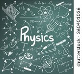 physics science theory law and... | Shutterstock .eps vector #360401036