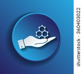 hand holding a chemical... | Shutterstock .eps vector #360403022