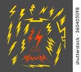 89 a set of electric lightning. ... | Shutterstock .eps vector #360405098