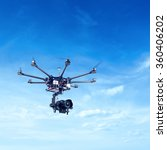 octocopter  copter  drone   Shutterstock . vector #360406202
